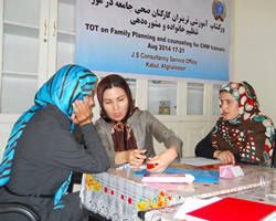 TOT on Family Planning Counseling for CHWs Trainers JS Consultancy Services